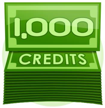 1,000 Credit Tip