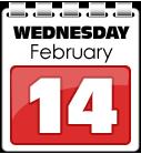 Wednesday 14 February