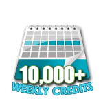 10,000 Credits in a Week