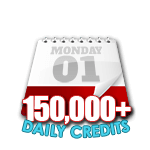 150,000 Credits in a Day