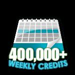 400,000 Credits in a Week