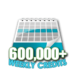 600,000 Credits in a Week