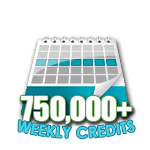 750,000 Credits in a Week