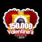 Valentine's 150,000 Credits