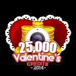 Valentine's 25,000 Credits