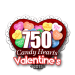 750 Candy Hearts