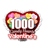 1,000 Candy Hearts