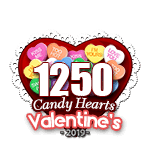 1,250 Candy Hearts
