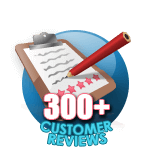 300 Customer Reviews