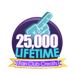25K Lifetime Fan Club Credits