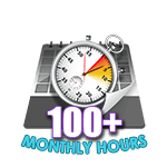 100 Hours Online in a Month
