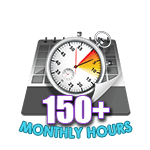 150 Hours Online in a Month