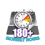 180 Hours Online in a Month