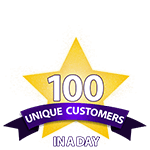 100 Unique Customers in a Day
