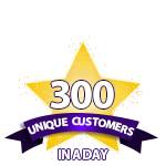 300 Unique Customers in a Day
