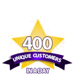400 Unique Customers in a Day