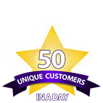 50 Unique Customers in a Day