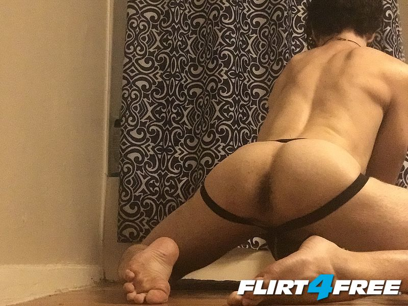 Ass in a jock