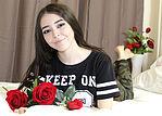 beautiful girl and roses