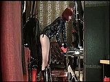 Mistress has a big fat monster strap-on for you