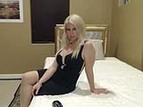 Garter and stockings tease