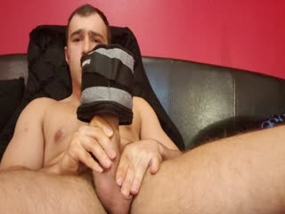 Lifting a 10lb Weight with my Cock!