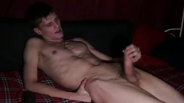 European Guy Jerking Off