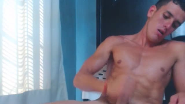 Naked Guy Jerking and Shooting Off Load