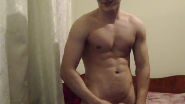 Hot Ripped Muscled Body Model Jerking Off and Ass Play