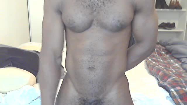 Ebony Muscled Model Cum Shot Webcam Show