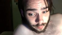 Hairy American Lad Plays with His Nipples