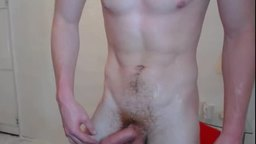 European Model Frank, Plays with His Dick