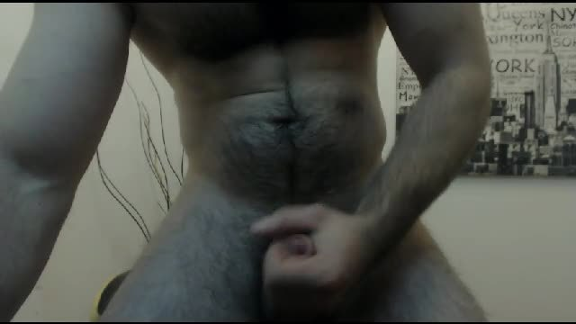 Hairy European Model Jerks His Dick