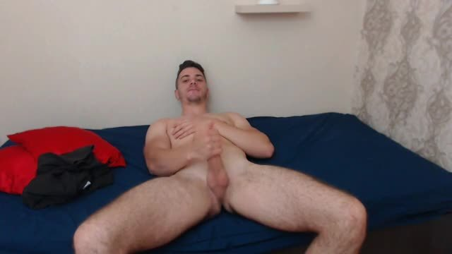 Sexy Big Josh Jerks Off His European Cock!
