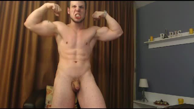 Hot Slavic Stud Webcam Shows Off His Hot Bod