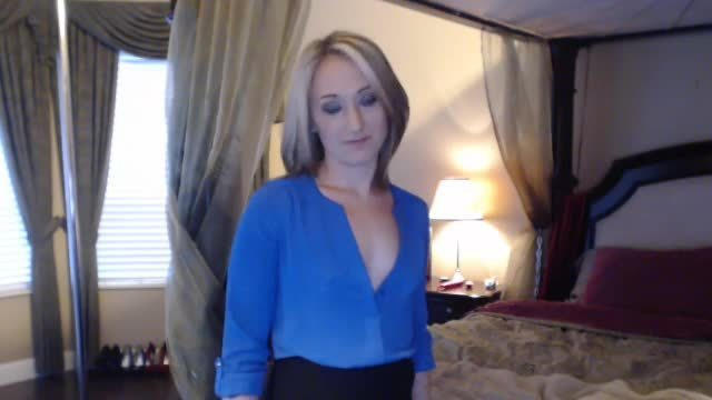 Secretary Christina Talks Dirty to Her Boss - Private Webcam Show