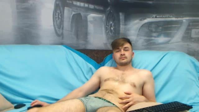 Party Chat: Arthur Relaxing on Cam and Playing with Cock in Underwear