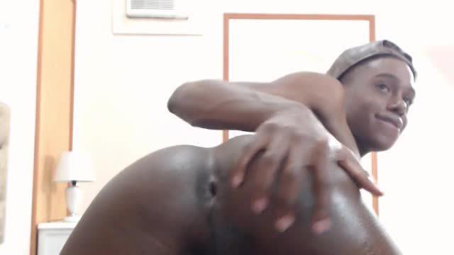 Ebony Model Jiimmy Uses a Vibrator
