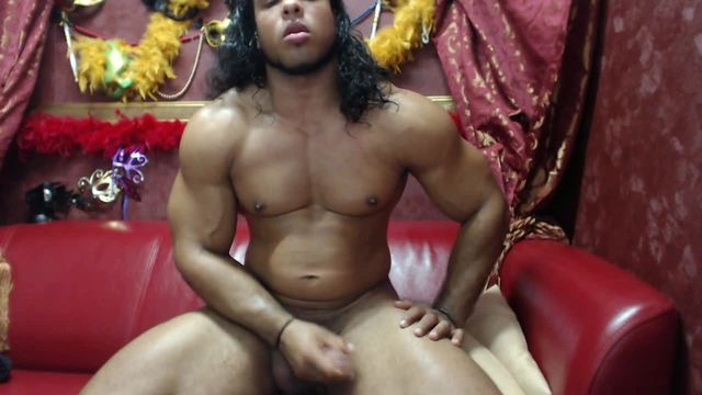 Muscular Guy Strokes His Big Dick