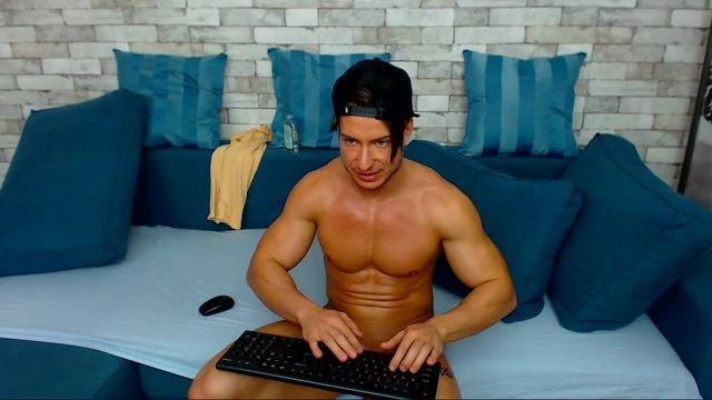Sexy Ethan Joy Jerks Off His Cock & Cums!