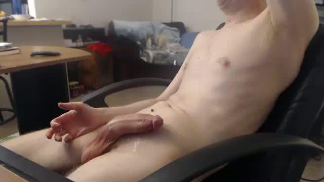Zack is Stroking His Big Rock Hard Cut Dick!
