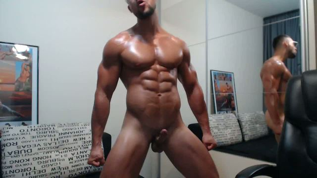 Adonis Webcam Shows Off His Sculpted Body and Perfect Cock