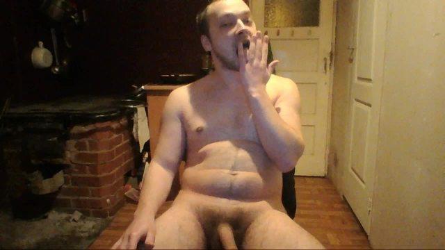 Hairy Model Jerking and Cum Shot Webcam Show, Nice Dick!