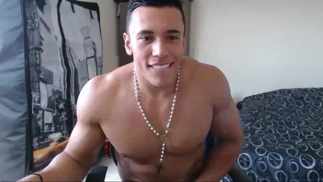 Latin Muscle Chatting and Stroking