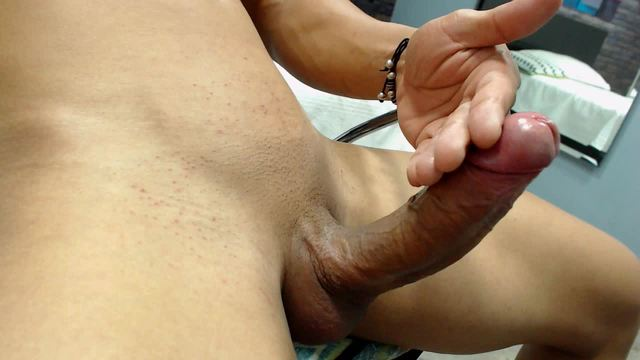 Latino Hunk Jerks His Massive Cock