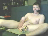 Cute skater boy gets tied and strokes his fat cock
