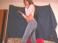 showing off jeans