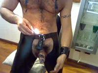 BDSM: Hot Wax On Nips, Cock, Nuts, Ass Play