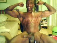 Hot Black guy with Biceps, six pack and a big hard cock.