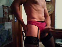 Jerk Off in Panties and Garter